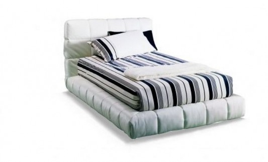 contemporary comfortable single bed from Bontempi