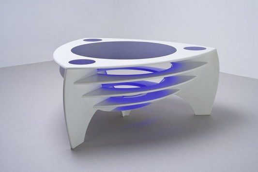 Contemporary Corian Coffee Table Elegant Design