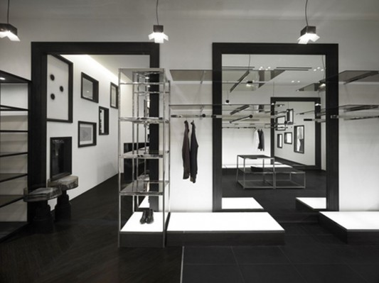 contemporary fashion shop interior
