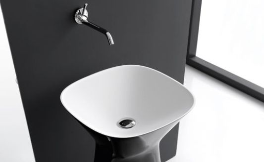 contemporary freestanding washbasin
