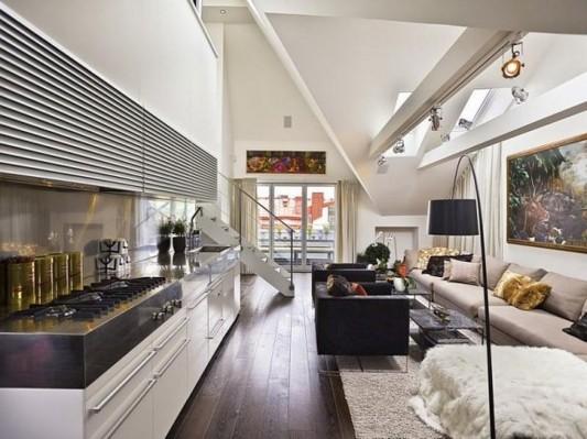 contemporary loft apartment interior design ideas