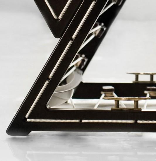 contemporary modular lounge chair fame detailed design