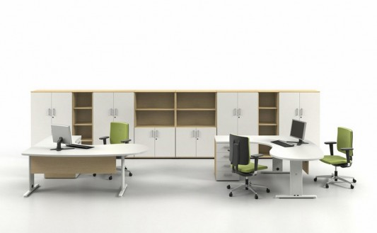 contemporary office desk and cabinet design
