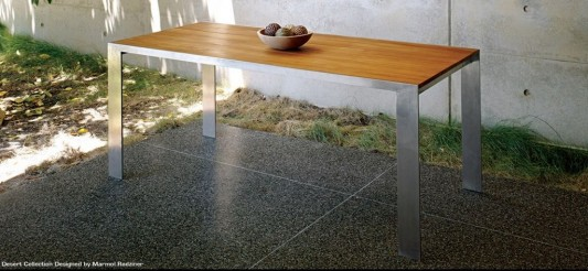 contemporary outdoor dining table design