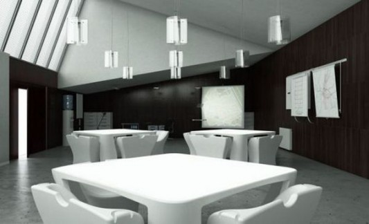 contemporary restaurant furniture compact and interactive design