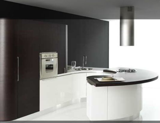 Exotic Curved Line of Stylish Italian Kitchen, Volare Kitchen by ...