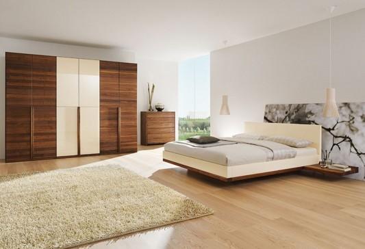 contemporary solid walnut bedroom furniture set