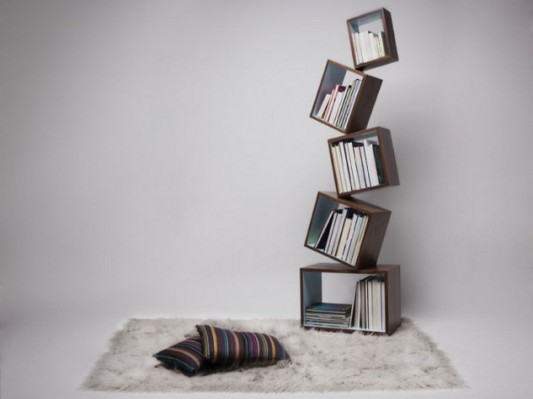 contemporary unique bookshelves design ideas