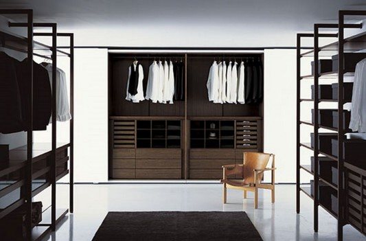 contemporary walk in closet storage decoration ideas