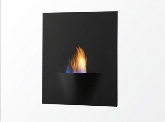 contemporary wall mount bio-fuel fireplaces burner