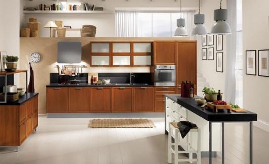 contemporary wooden kitchen elegant and minimalist design