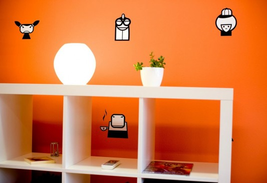 cool and funny office wall and shelving system