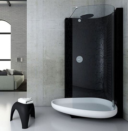 The Combination of Cool Shower and Bath, New Beyond by Glass ...