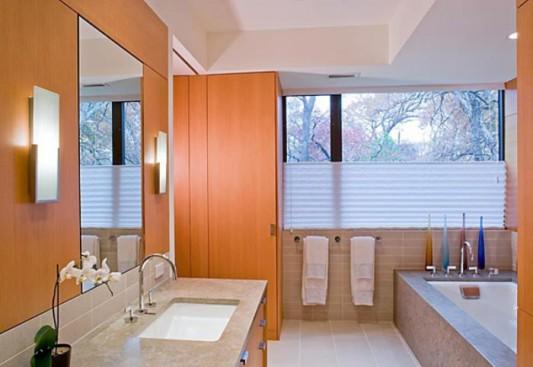 cottage bathroom design with elegant marble ideas