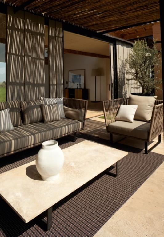 cozy patio decoration ideas with kettal bitta furniture