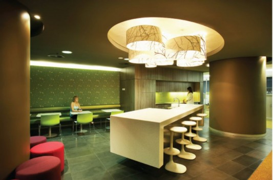 creative and futuristic office lighting design