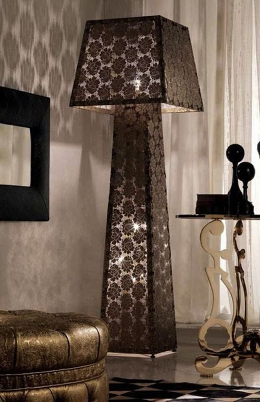 creative lace lampshade luxurious and romantic for bedroom design