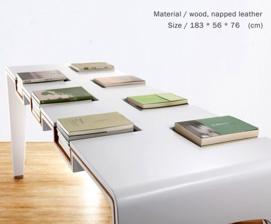 creative modern minimalist library furniture with book organization