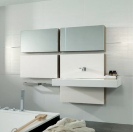 cubism innovation to a whole section of modern bathroom design