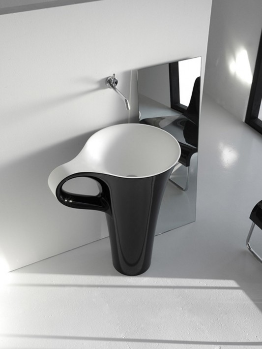 cup modern freestanding basin design by artcream