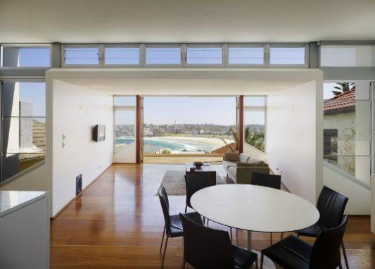 design dining room overlooking the ocean view