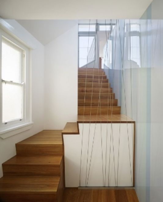 design wooden staircase with a low positio