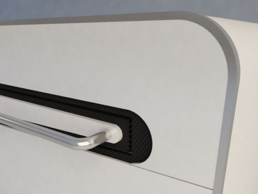 detail handle design luxury bed table