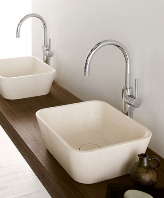 Beautiful wooden stand wall mounted washbasin by neutra for Bathroom wash basins designs