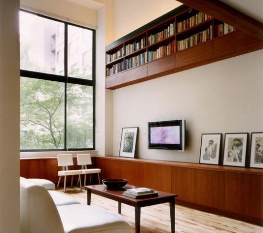 eiche residence wall storage design