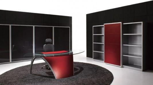 Elegant and Dynamic Office Desk Luna by Uffix  Home Design
