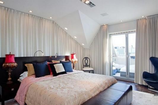 elegant and luxurious loft master bedroom design