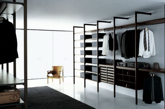 elegant and minimalist walk-in closet decoration ideas