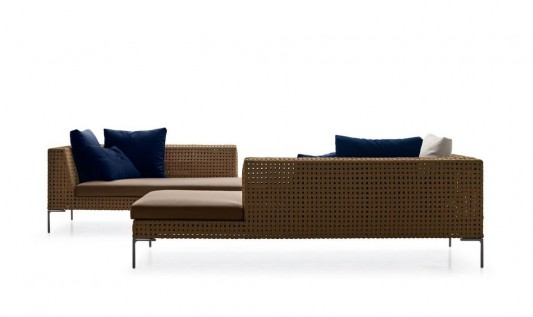 elegant and modern outdoor sofa system BebItalia Collection