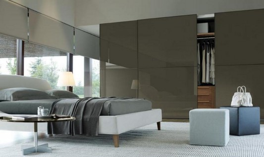 elegant and stylish Italian walk-in wardrobes modern design