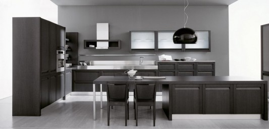 elegant black classical modern kitchen ideas