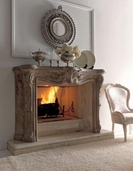 elegant classic fireplace design ideas