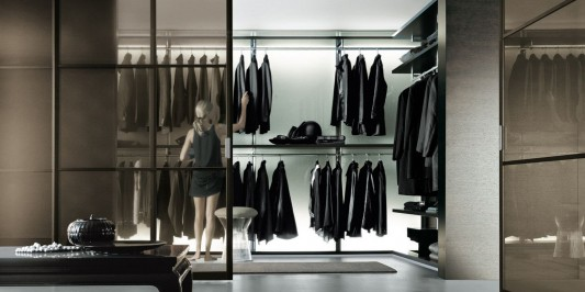elegant dress bold walk-in closet system