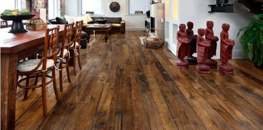 elegant wooden floor with structure of natural life for hardwearing and easy to care