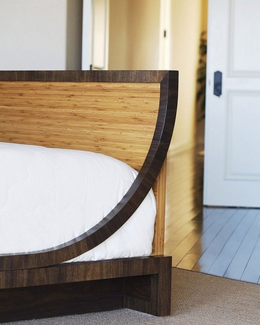 environment friendly design bed with headboard bamboo