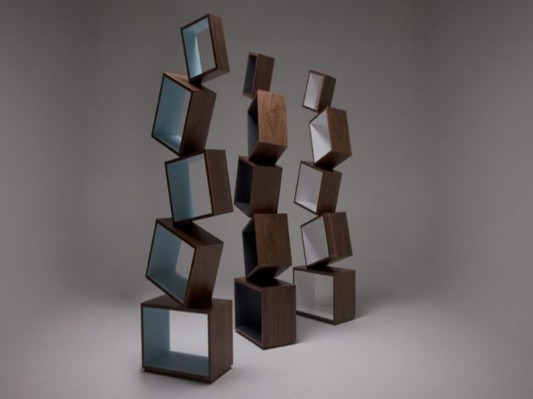 equilibrium bookcase contemporary design