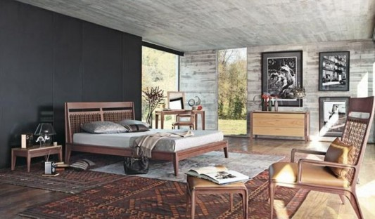 Eco Friendly Ethnic Bed Collection With Solid Walnut Or Oak