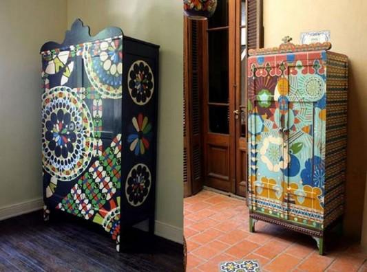 ethnic cabinet design for artistic palette Sans Parapluie