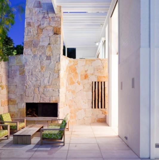 exterior stone wall design ideas