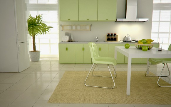 fancy green kitchen ideas