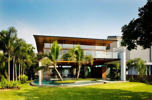 fish house beash house design in singapura