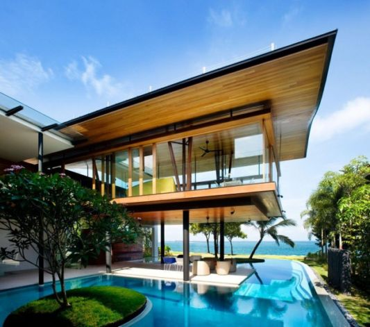 Fish House Design, House With Open Air Circulation