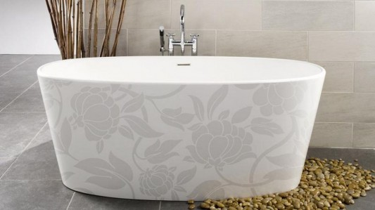 floral motifs decorative free standing bathtubs modern design