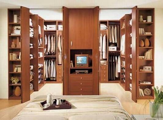 folding shape door walk-in closet design ideas