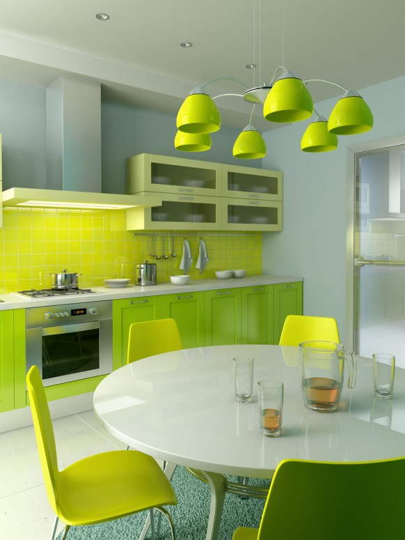 fresh kitchen for own designer
