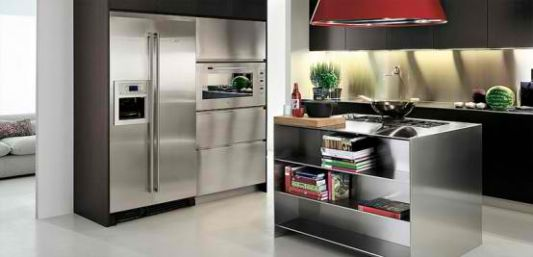functional stainless steel kitchen ideas with application of high technology equipment